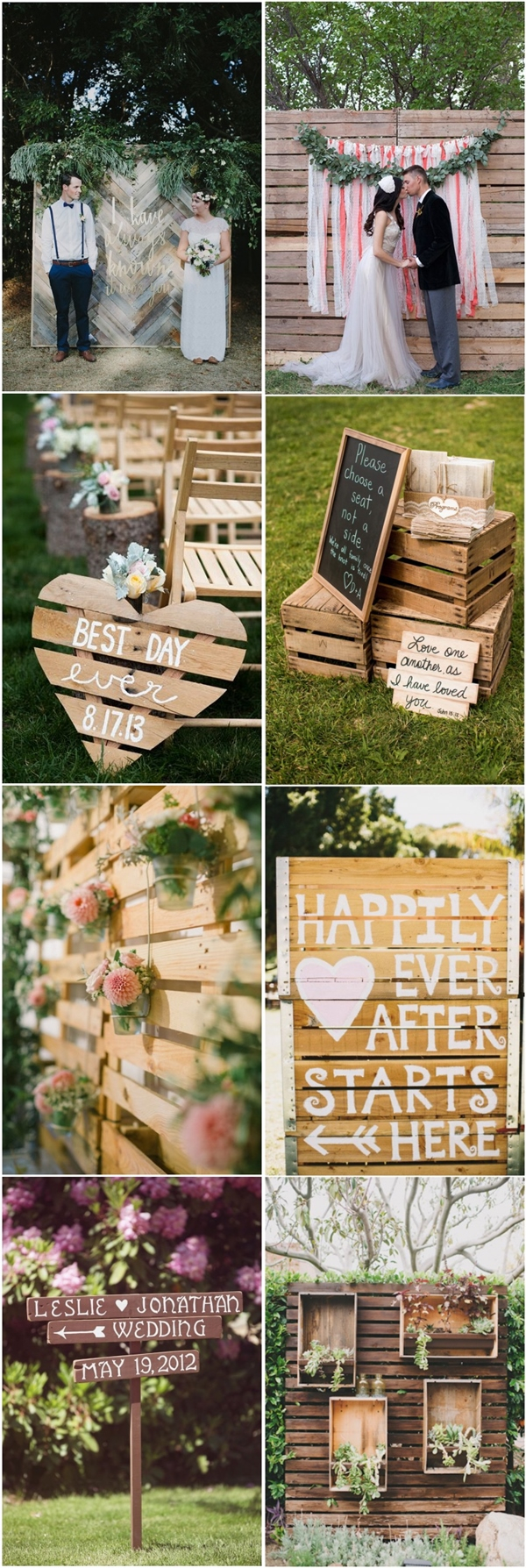 Pallets Wedding Ideas 35 Eco Chic Ways To Use Rustic Wood Pallets In Your Wedding Deer