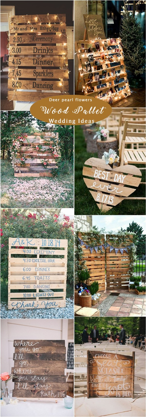 Pallets Wedding Ideas 65 Rustic Woodsy Wedding Decor Ideas For 2019 Deer Pearl Flowers