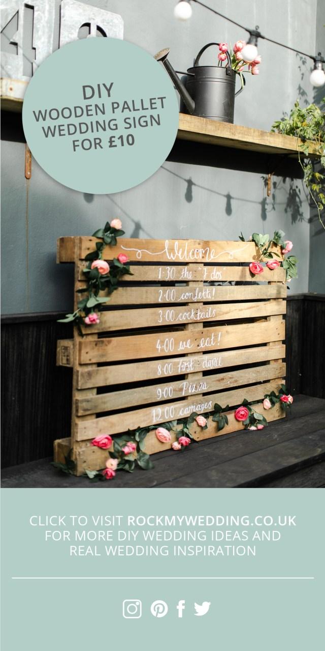 Pallets Wedding Ideas Wooden Pallet Wedding Sign Make Your Own For Under 10