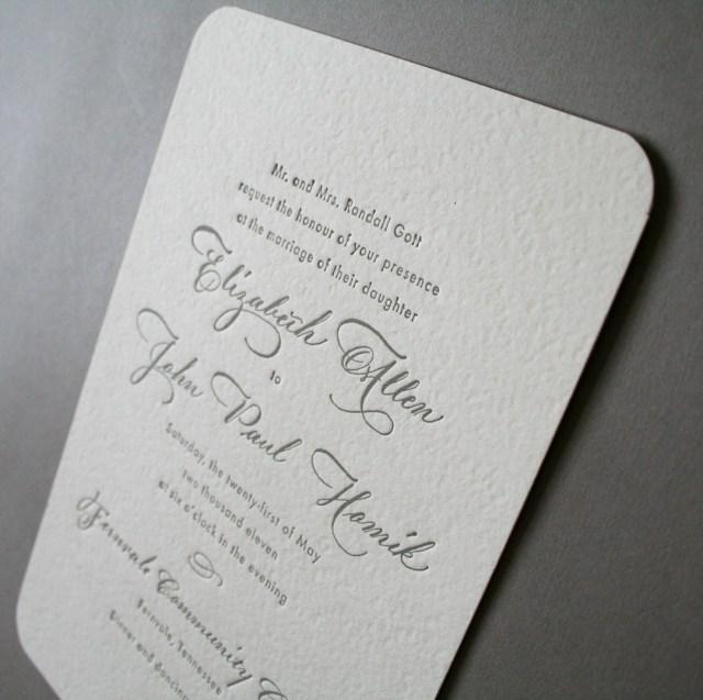 Paper For Wedding Invitations Elizabeth Johns Classic Calligraphy Wedding Invitations
