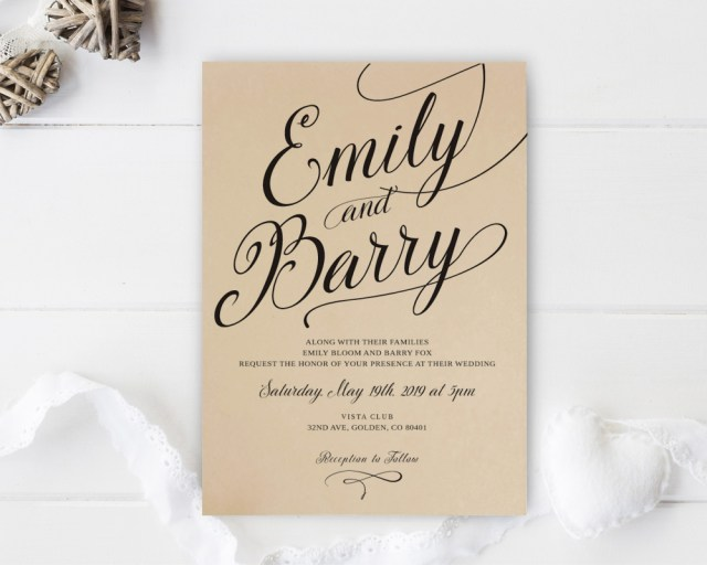 Paper For Wedding Invitations Kraft Paper Wedding Invitations Lemonwedding