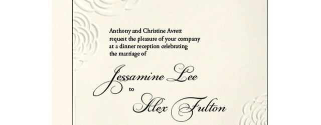 Paper Source Wedding Invitations Roses Wedding Invitation Jessamine Alex Paper Source