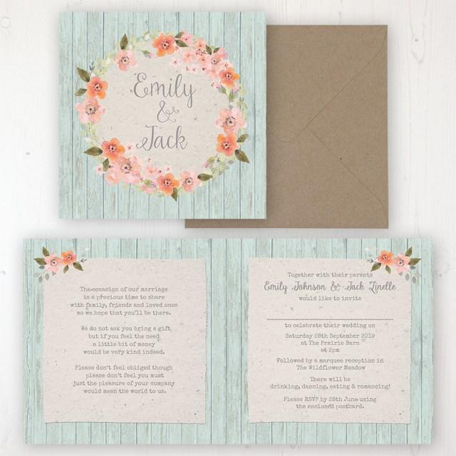 Peach Wedding Invitations Prairie Peach Wedding Invitations Sarah Wants Stationery