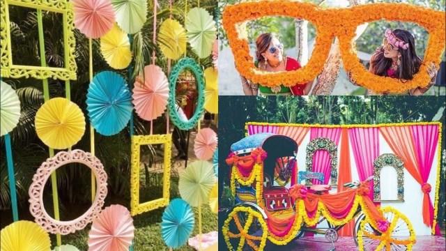 Photobooth Ideas Wedding New Wedding Engagement Sangeet Mehendi Decoration Ideas
