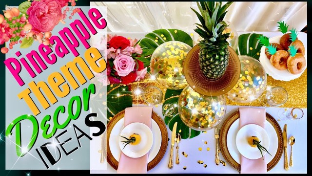 Pineapple Wedding Decor Weddings And Events Scenery Pineapple Decor Party Ideas Tropical