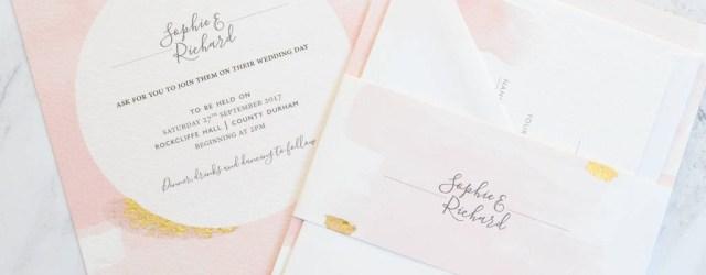 Pink Wedding Invitations Blush Watercolour Wedding Invitation Amanda Michelle Design