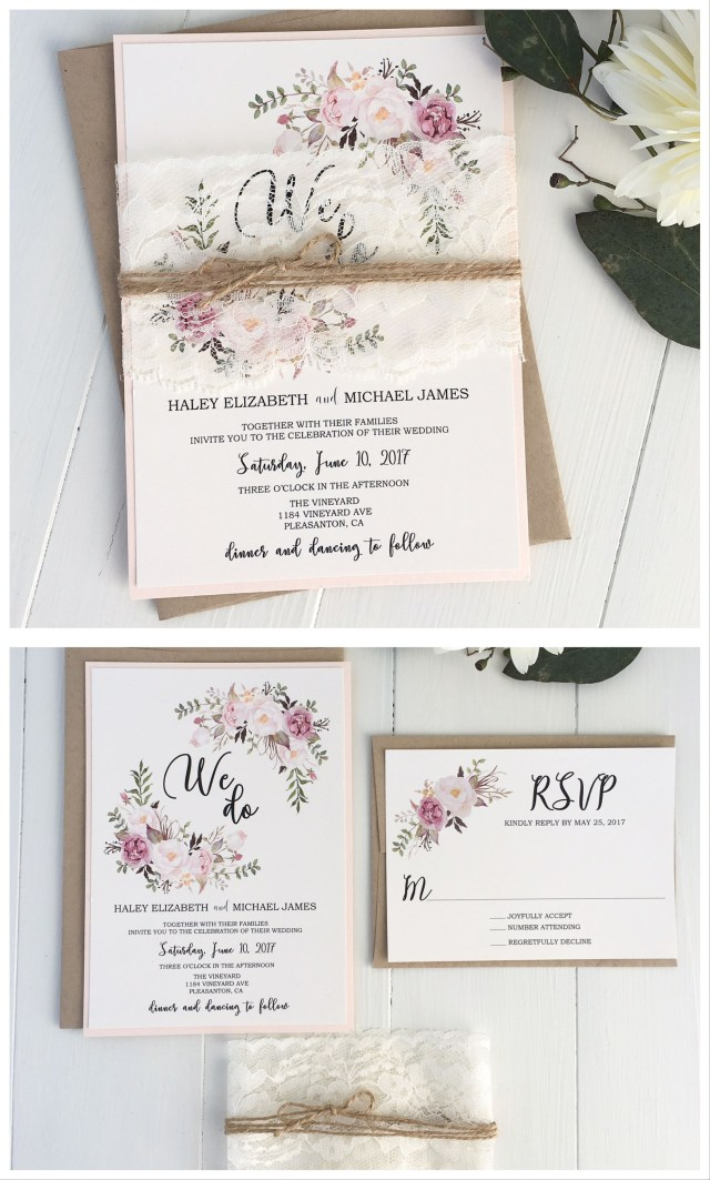 Pinterest Wedding Invitations Pink Floral Invitation We Do Weddings Pinterest Wedding