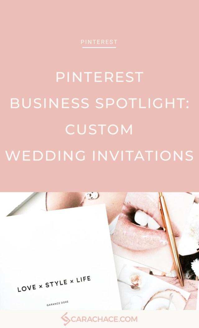 Pinterest Wedding Invitations Pinterest Business Spotlight Custom Wedding Invitations Cara Chace