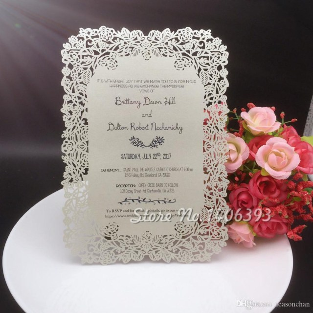 Placecards Wedding Diy 2019 12x17cm Laser Cut Rose Flower Paper Table Place Card Diy