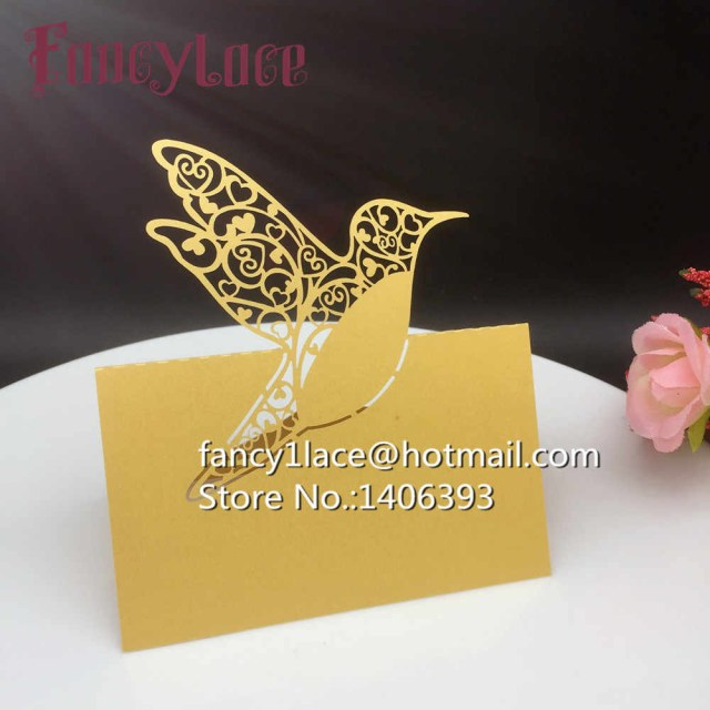 Placecards Wedding Diy Detail Feedback Questions About Diy Laser Cut Paper Love Bird Name