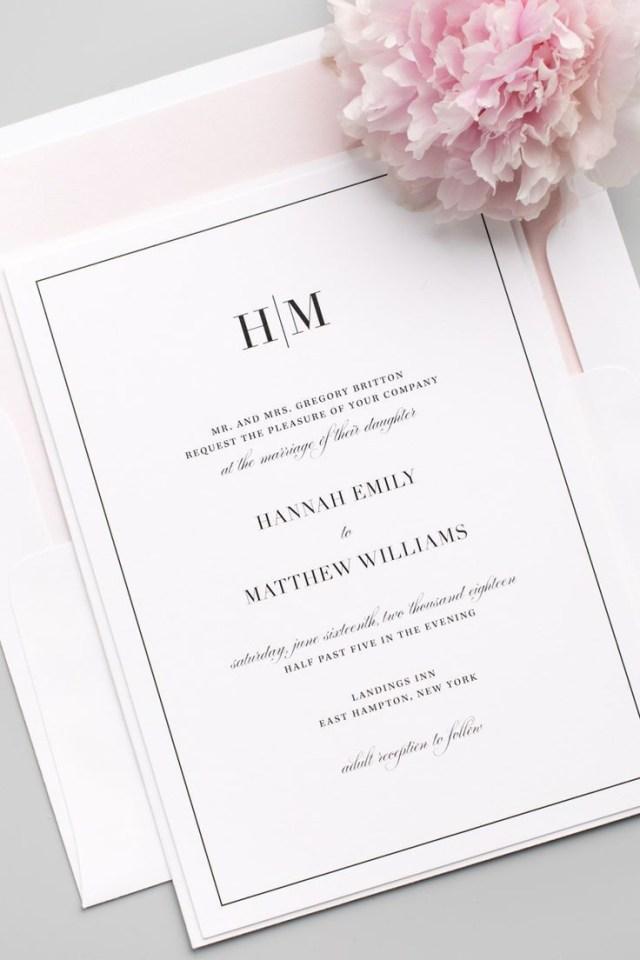 Plain Wedding Invitations Glam Monogram Wedding Invitations Member Board Stationery