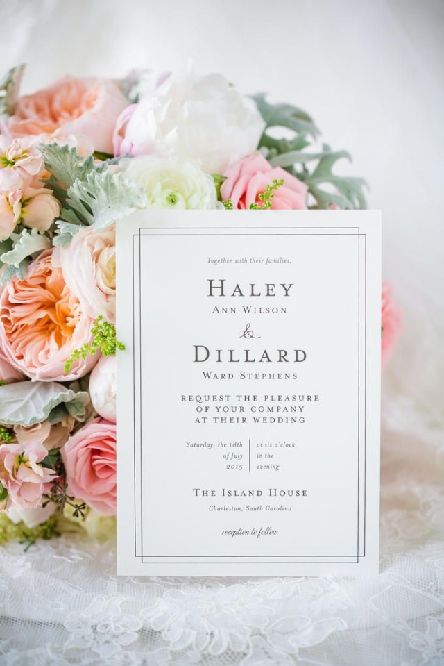 Plain Wedding Invitations This Bride And Groom Were Going For Elegant Simplicity With Their
