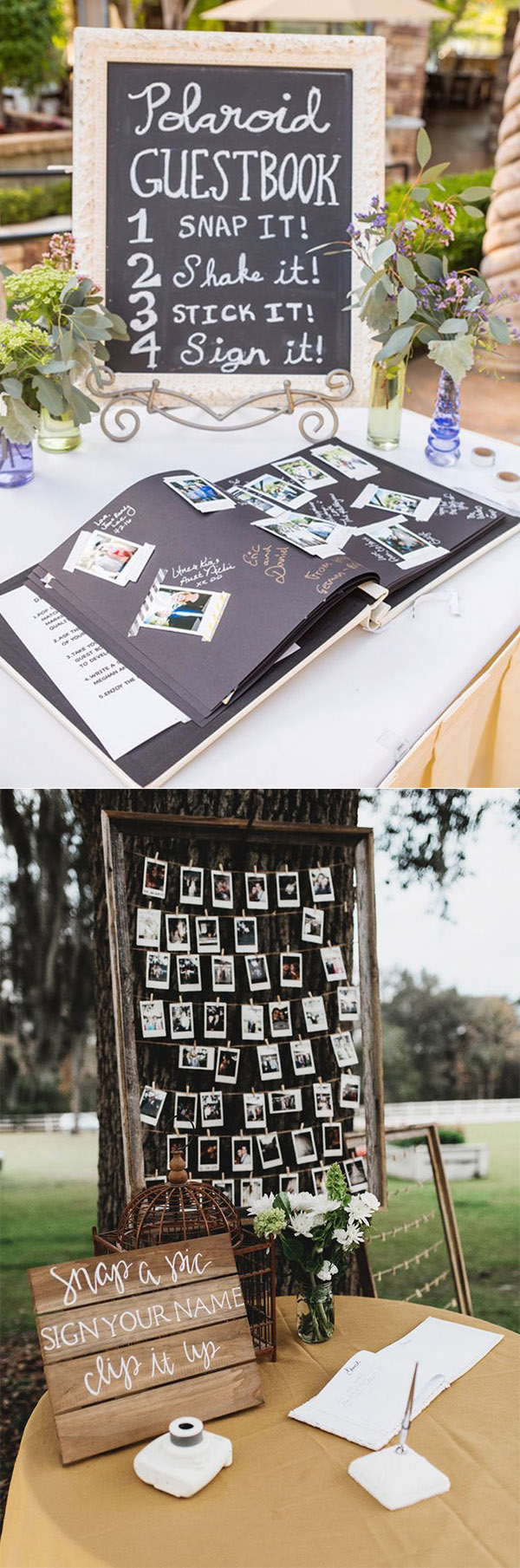 Poloroid Wedding Ideas 20 Must See Non Traditional Wedding Guest Book Alternatives