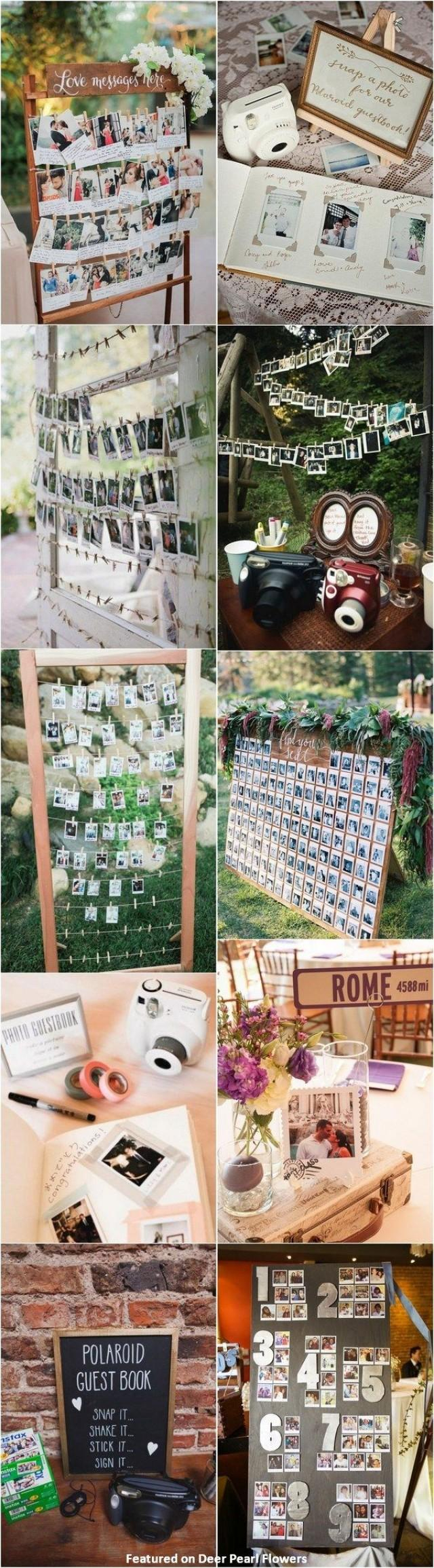 Poloroid Wedding Ideas 30 Creative Polaroid Wedding Ideas Youll Love 2746704 Weddbook