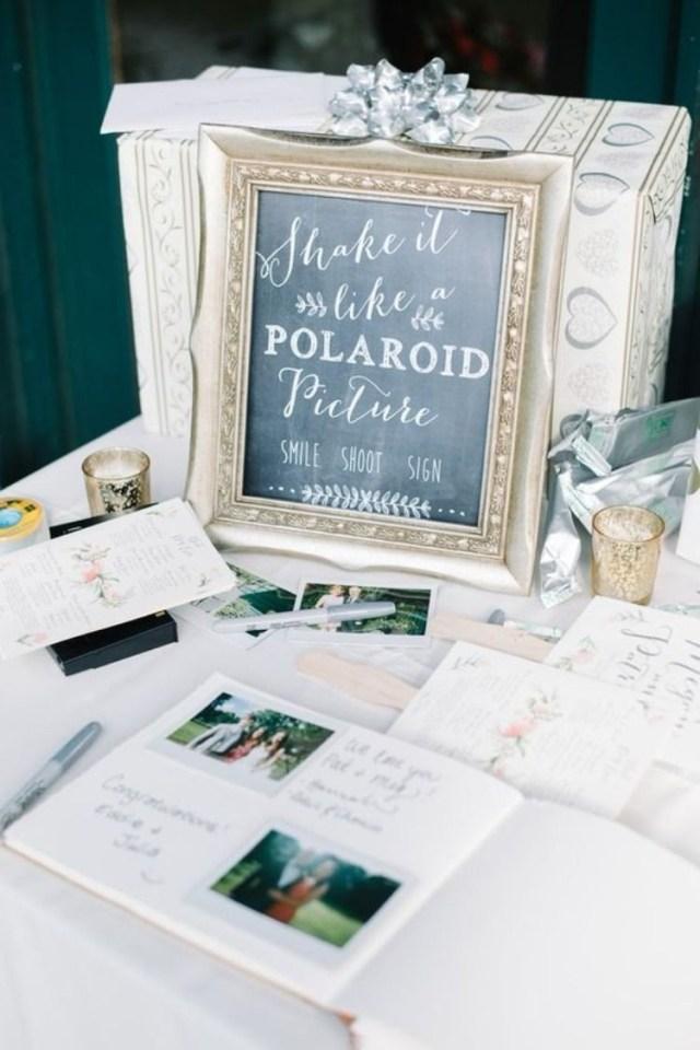 Poloroid Wedding Ideas Wedding Guest Book Table Avvv