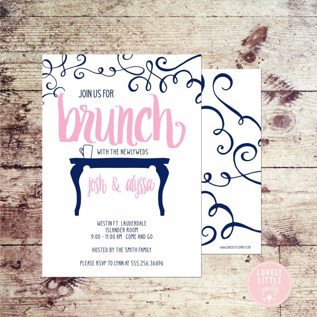 Post Wedding Brunch Invitations Post Wedding Brunch Invitation Rise And Shine Invitation Etsy