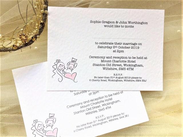 Postcard Wedding Invitations Bride And Groom Postcard Wedding Invitations