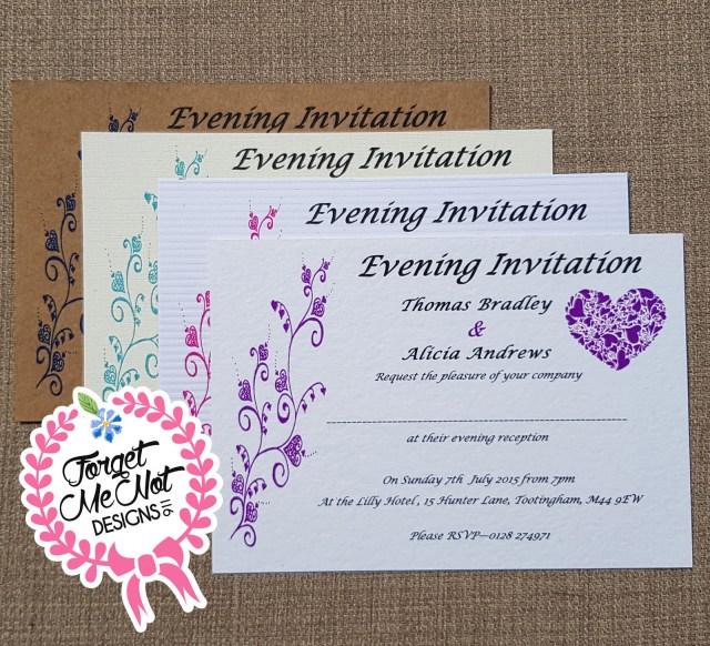 Postcard Wedding Invitations Personalised Postcard Style Wedding Invitations Any Colour Free