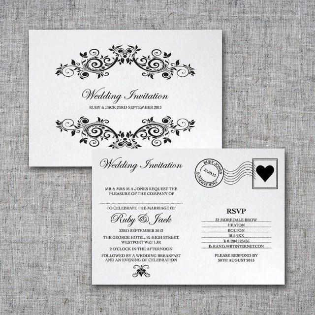 Postcard Wedding Invitations Personalised Postcard Wedding Invitation Intwine 2 Not On The