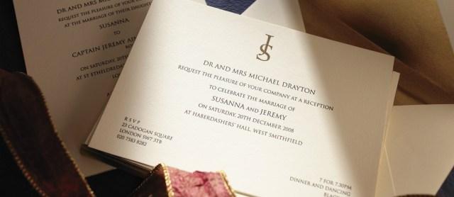 Printed Wedding Invitations Insignia Personalised Wedding Invitations The Letter Press