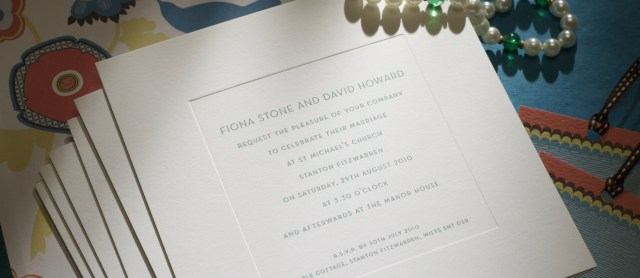 Printed Wedding Invitations New Bond Street Personalised Wedding Invitations The Letter Press