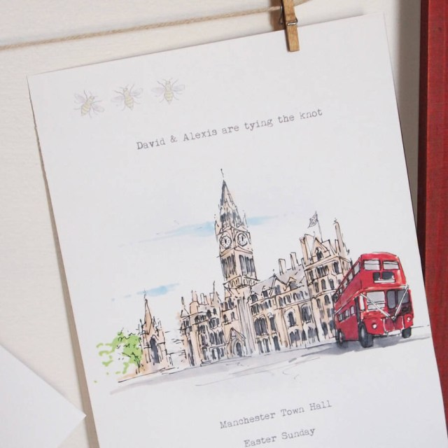 Printed Wedding Invitations Personalised Wedding Venue Invitations Greeting Card Homemade