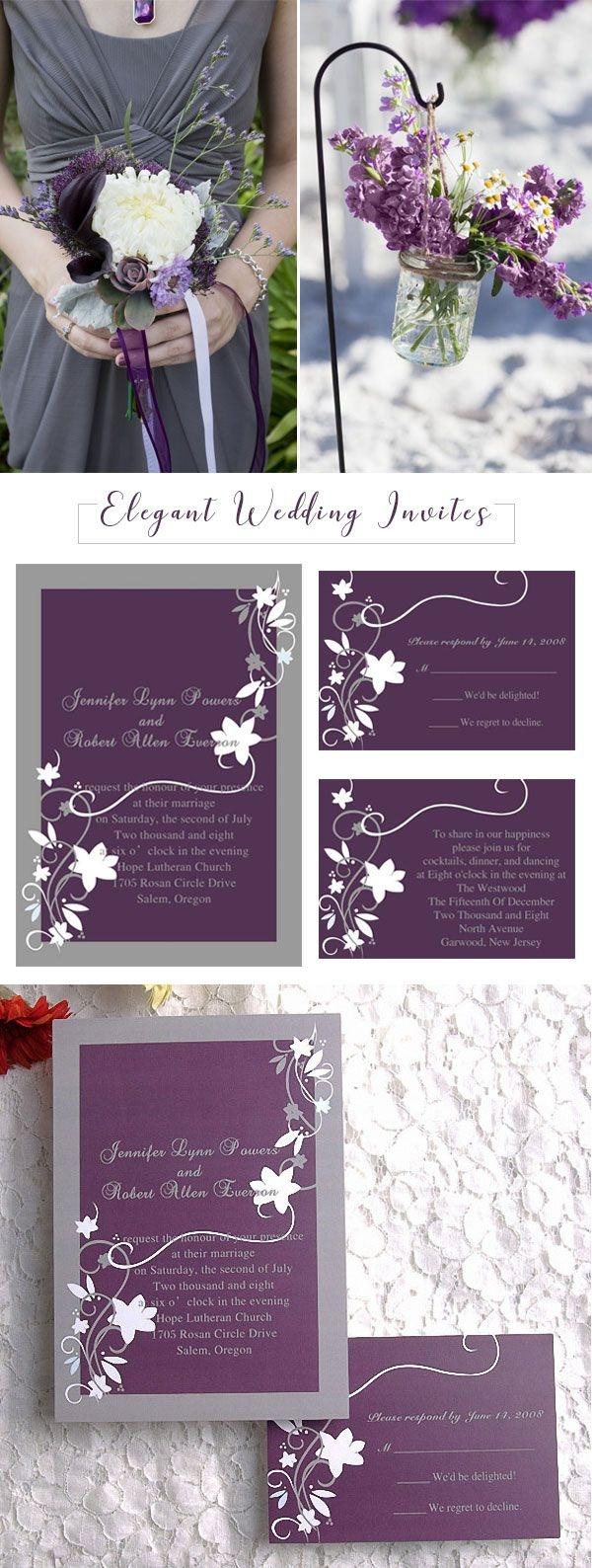 Purple And Silver Wedding Invitations Fresh Cheap Purple And Silver Wedding Invitations Collection