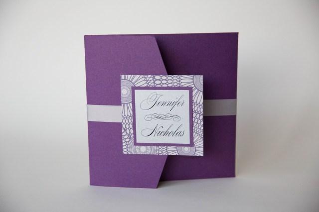 Purple And Silver Wedding Invitations Purple Wedding Invitations Baltimore Purple And Silver Design