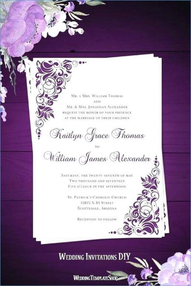 Purple Wedding Invitation Kits 206458 Simple Purple Wedding Invitations Beautiful Wedding