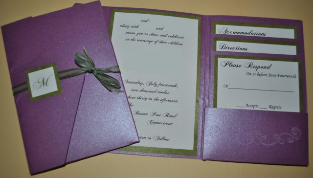Purple Wedding Invitation Kits Accessories The Humble Pocket Wedding Invitations For Your Modest