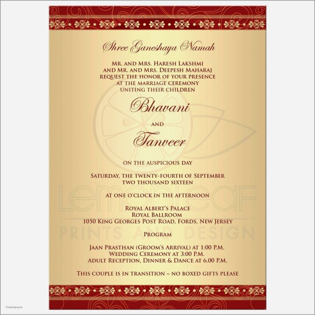 Reception Invitation Wording After Private Wedding Indian Wedding Reception Invitation Wording Doc Inspirational