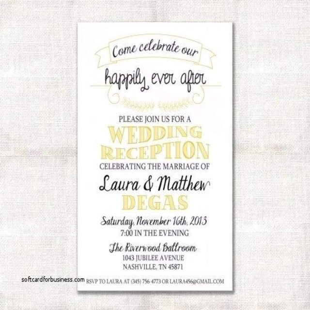Reception Invitation Wording After Private Wedding Reception Invitation Wording After Private Wedding Awesome