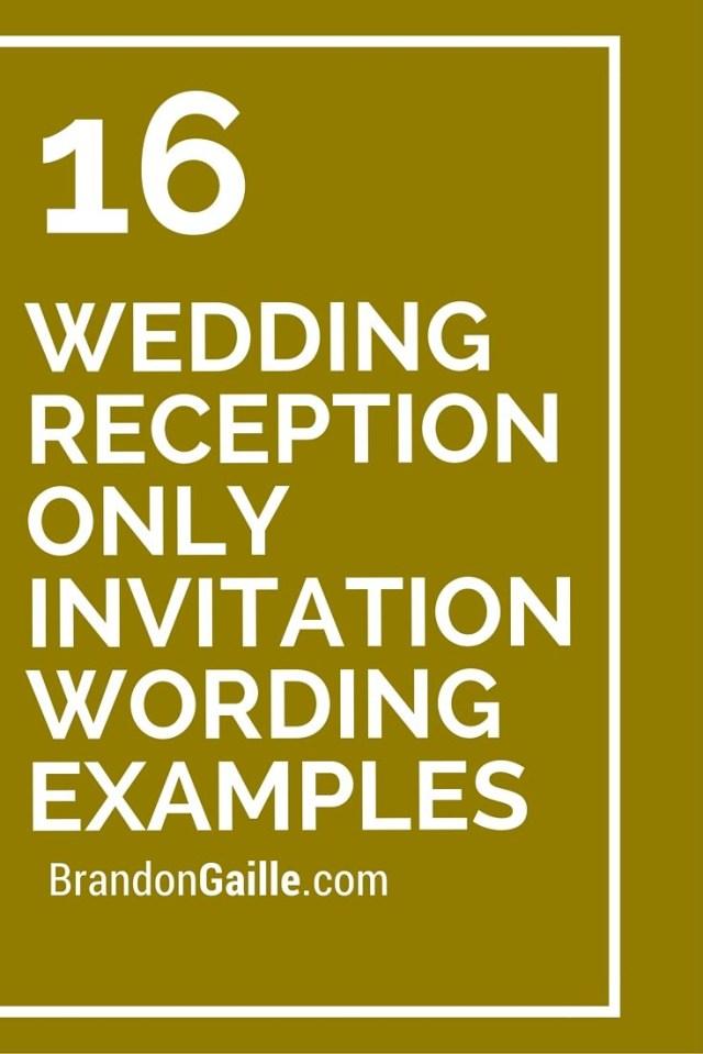 Reception Only Wedding Invitations 16 Wedding Reception Only Invitation Wording Examples Messages And