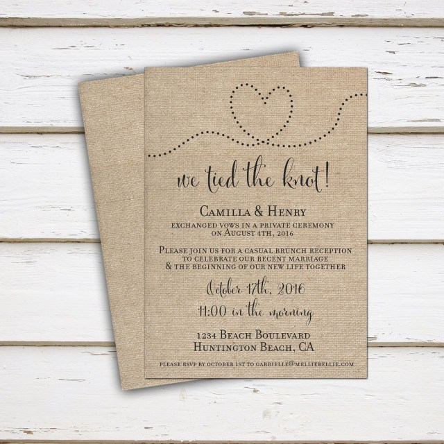 Reception Only Wedding Invitations Printable Elopement Reception Invitation Reception Only Already