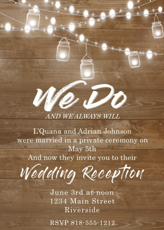 Reception Only Wedding Invitations Reception Only Wedding Invitations