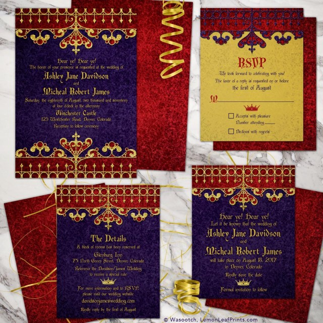 Red And Gold Wedding Invitations Wedding Invitations Wedding Stationery Wasootch Blog Wasootch