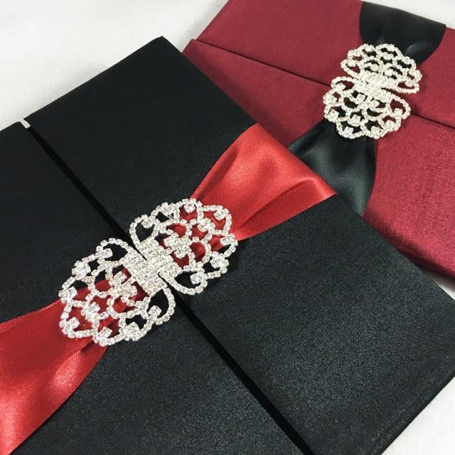 Red Wedding Invitations Black Red Wedding Announcement Invitations