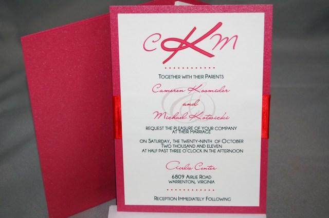 Red Wedding Invitations Fine Prints Camis Dark Pink And Red Wedding Invitations Featuring