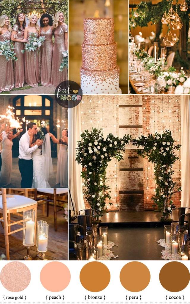 Rose Gold Wedding Decorations Rose Gold Wedding Colour For Industrial Weddingwarehouse Wedding Ideas