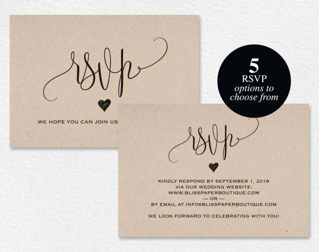Rsvp Wedding Invitation Rsvp Postcard Rsvp Template Wedding Rsvp Cards Wedding Rsvp Etsy