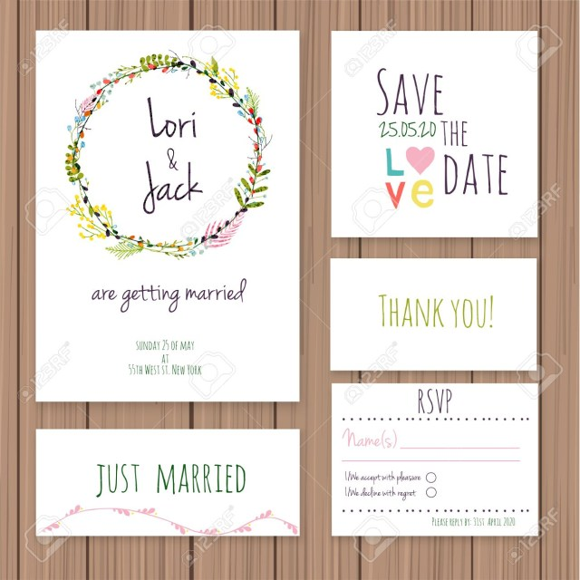 Rsvp Wedding Invitation Wedding Invitation Card Set Thank You Card Save The Date Cards
