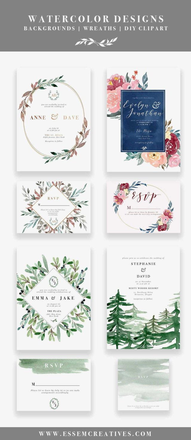 Rustic Chic Wedding Invitations Diy Rustic Chic Wedding Invitations Diy Lovely Diy Printable Watercolor