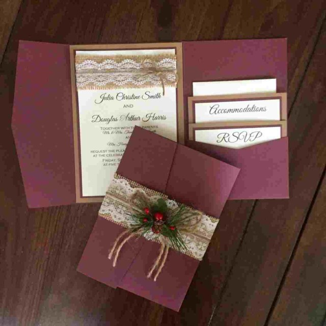 Rustic Chic Wedding Invitations Diy Wedding Invitation Page 180