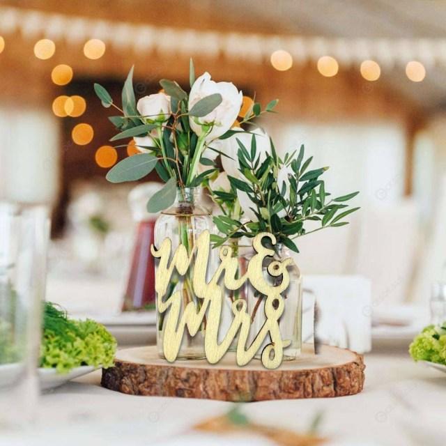 Rustic Engagement Party Ideas 15pcs Mr Mrs Signs Wood Ornament Rustic Wedding Engagement Party