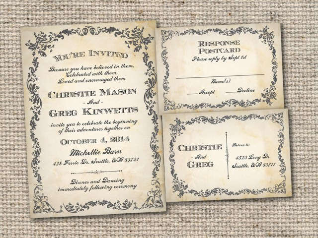 Rustic Vintage Wedding Invitations Easy On The Eye Vintage Wedding Invitation Templates To Create Your
