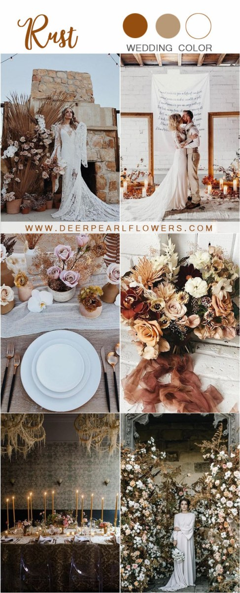 Rustic Wedding Colors 24 Rustic Rust Wedding Color Ideas Deer Pearl Flowers