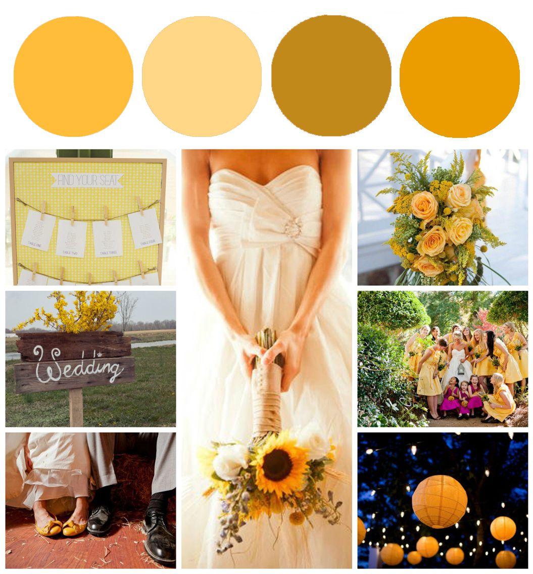 Rustic Wedding Colors Sunflower Wedding Color Inspiration Rustic Wedding Chic