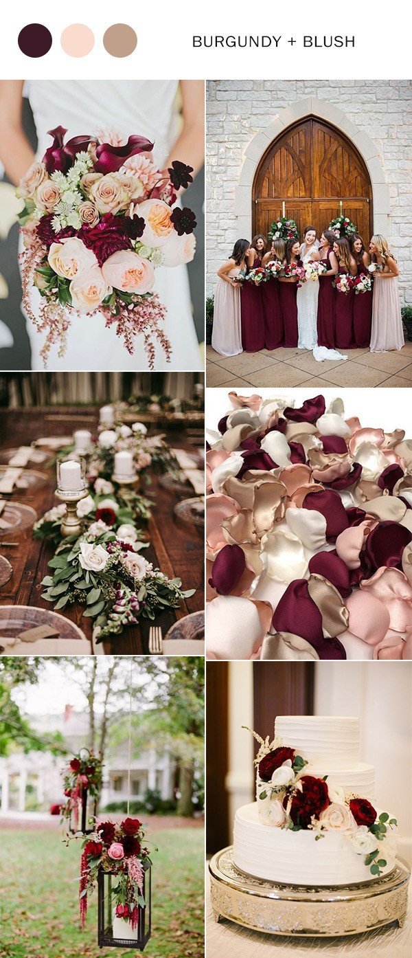Rustic Wedding Colors Trending 5 Perfect Burgundy Wedding Color Ideas To Love Oh Best