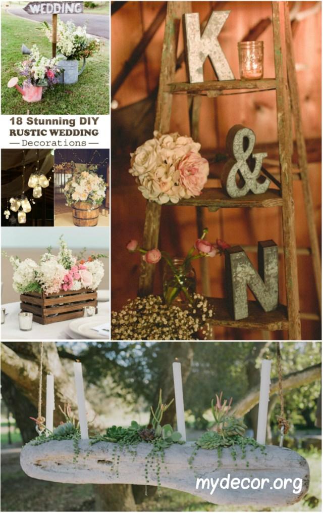 Rustic Wedding Decor Diy 18 Stunning Diy Rustic Wedding Decorations My Decor Home Decor Ideas