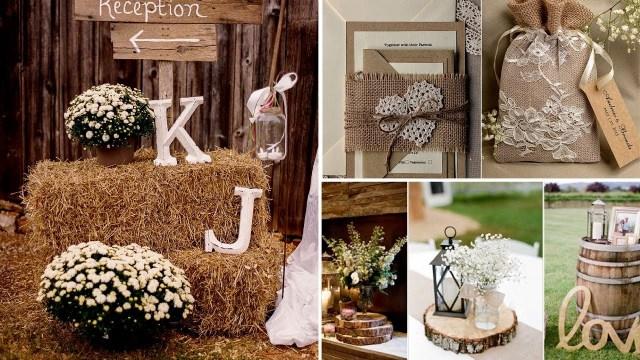 Rustic Wedding Decor Diy 40 Elegant Rustic Or Barn Chic Party Or Wedding Diy Decor Ideas